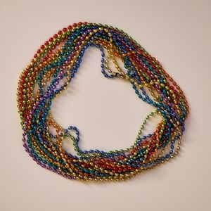 NEW Set of 15 Colored Bead Necklaces